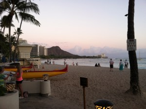 Sunset at Waikiki beach in Oahu, Hawaii. Not a bad place to earn an income, or reason to adopt these ideas…