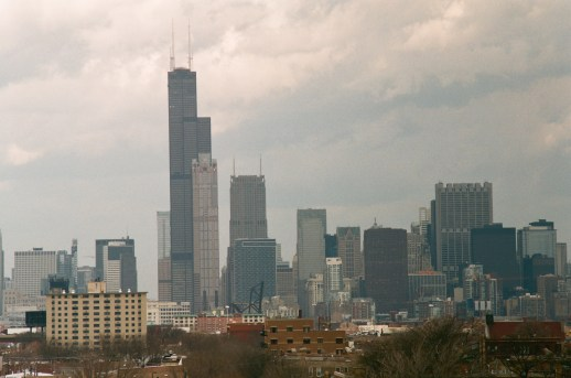 The Chicago skyline seen from US Celluar field. This was taken with the 200mm lens and 2x teleconverter.