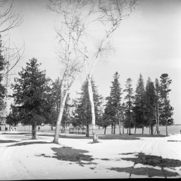 The colonial park in Mackinaw City.