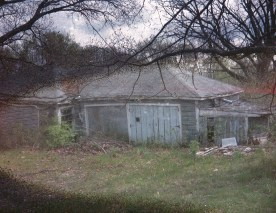 I didn't know it at the time, but the degraded AGFA film makes these dilapidated houses look even creepier.