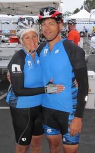 Teammates Jan Aufdenkamp and Greg Moyer