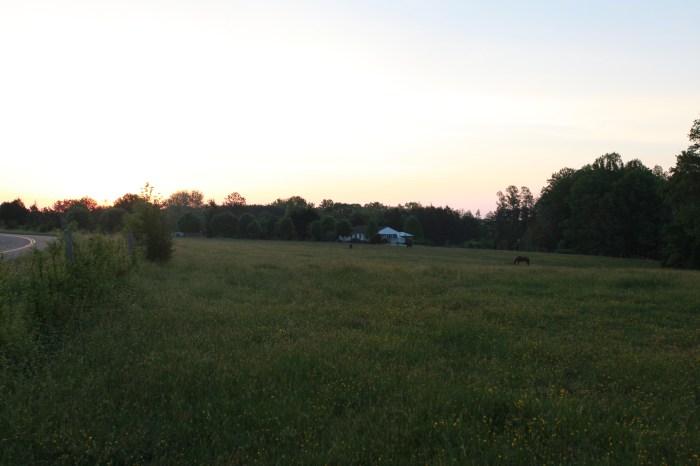 Dawn outside Mineral, VA