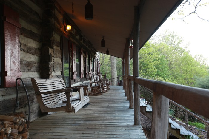 The deck at the Sugar Tree Inn is a good place to watch the rising sun.