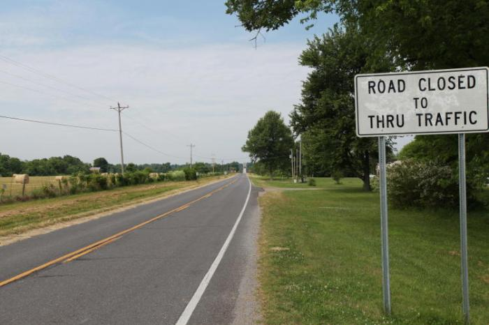 Bridge Out Ahead. --East of Paducah, Ky