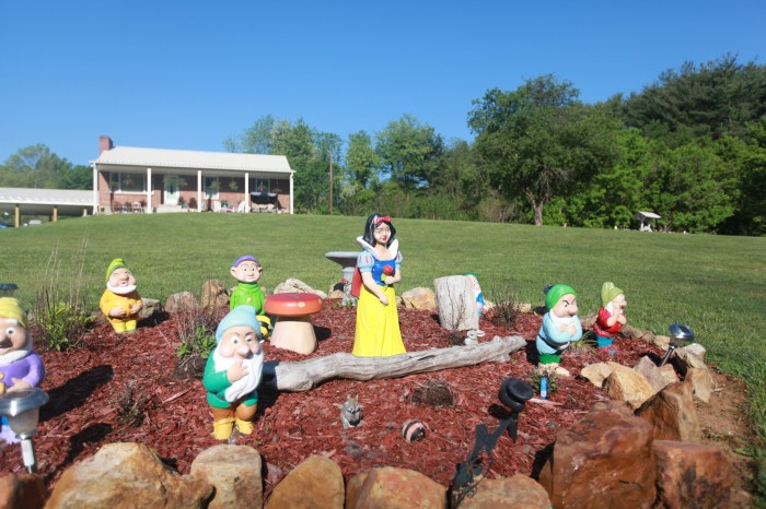 Snow White on the front lawn