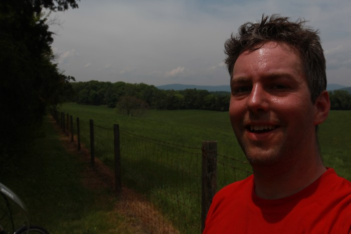Just climbed my 1st of what turned out to be 9 or 10 hills approaching the blue ridge parkway