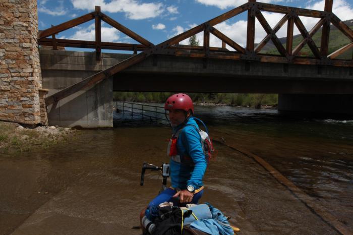 A bike path turned bike bath --Silverthorne, CO
