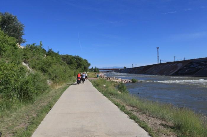 The reservoir path leaving Pueblo.