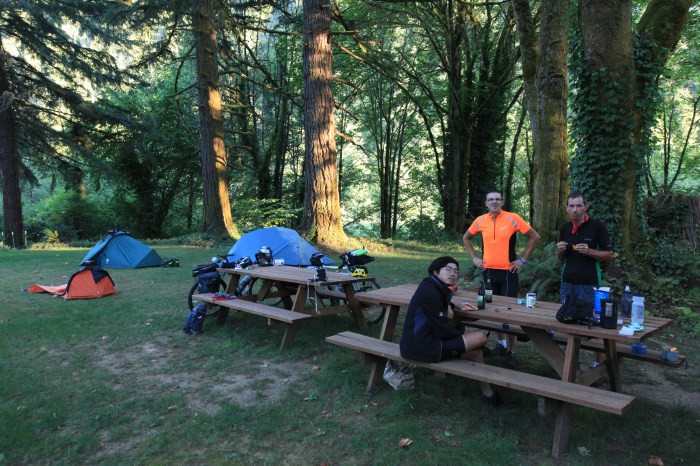 Final campsite with the Brits.