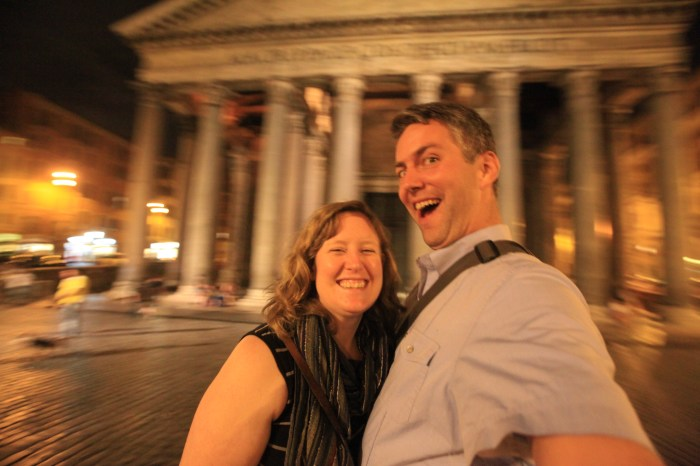 Selfie at Pantheon.