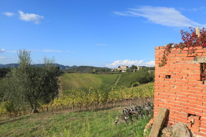 Even the castoff building materials are beautiful in Chianti