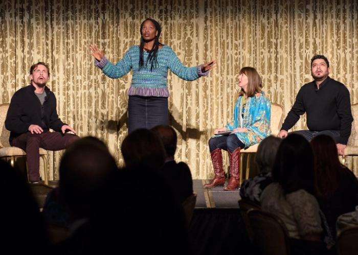 Condo Meeting performed at Victory Gardens Theatre 2014 Gala.  Photo Credit: Somebody else, not me... but not sure who.