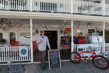 Junction Bike Shop with proprietor Thomas Hash, the nicest guy on the TransAm.