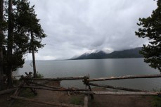 Rain clouds roll in over Jackson Lake. -- Grand Teton National Park, WY