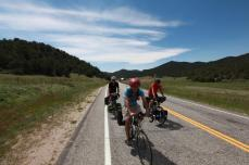 Chuck, Bill, and Terry on the way up to Guffey, CO.