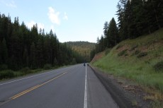The road up to Dixie Pass in Malheur National Forest, Oregon.