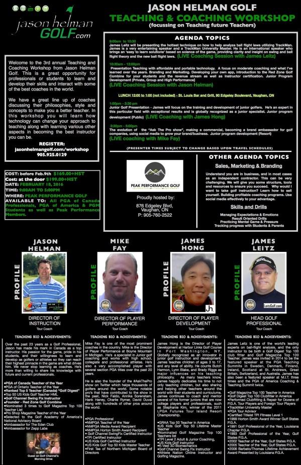 Jason Helman Teaching & Coaching Workshop