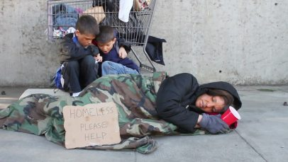 Homeless Family