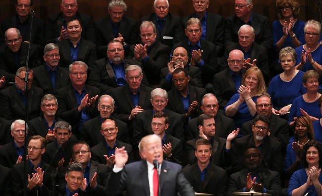 "Every time a church choir sings ""Make America Great Again"" an angel loses its wings"