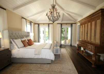 bed bedroom ceiling chandelier