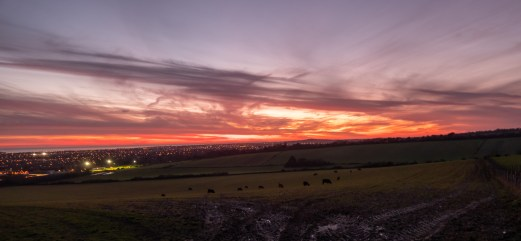 The same sunset a bit later, over Worthing
