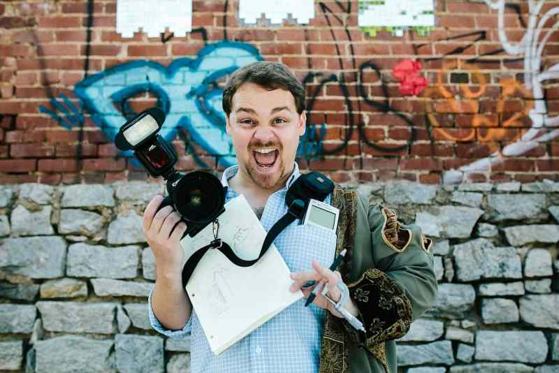 creative brand portrait of Atlanta photographer