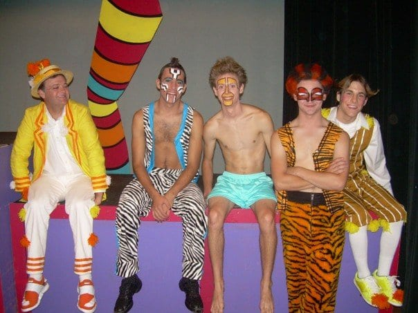 backstage theater portrait of Seussical Musical characters
