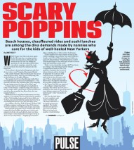 Created illustration and design for a story about scary nannies.