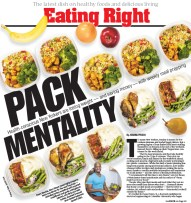 Cover design for Eating Right section.