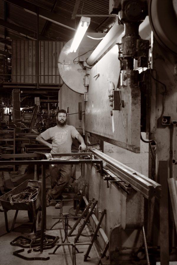 Jacques Timothy, Hamblin Engineering, factory, portrait, Hope Garen Furniture