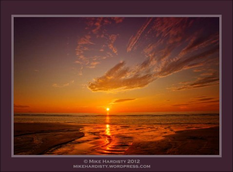 Ffrith Beach Sunset