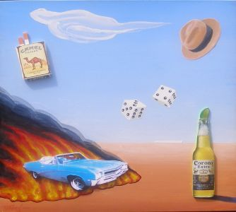 Product Placement #7, 2014</br> mixed media and acrylic on canvas, 24″ x 24″</br> $3000 – SOLD