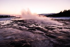Geysir, the first geyser, prepares to blow! Photo by Mike Higdon