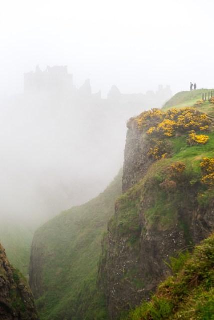 Donnuttar Castle through the foggy mist.