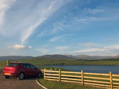 The rental car on Isle of Skye. Photo by Mike Higdon