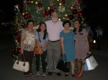 After dinner at Nuvali, south of Manila - with (l to r): Zeny, Vel, Corints and Yeyet
