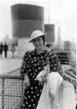 Mum on board the SS Normandie