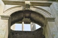 Detail of the arch above the main entrance