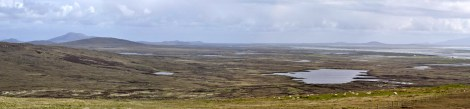 A panorama over North Uist, looking south from South Clettraval