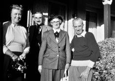 Mum, Albert, Becky, and Dad.