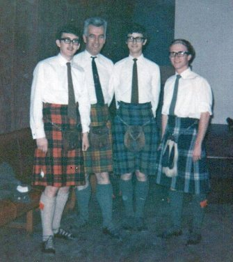 L to R: Me, Dr Joe Smartt (genetics lecturer in the Dept. of Botany), Clive James, Neil Freeman.