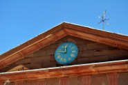 Clock above the stables.