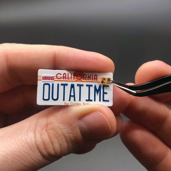 DeLorean Licence Plate Date Stickers from Magnetic Licence Plate Kit by Mike Lane