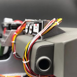 Mesh side stickers for plutonium gauges of Eaglemoss DeLorean
