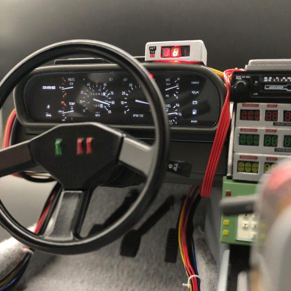 Eaglemoss DeLorean Instrument Panel Dash mod installed
