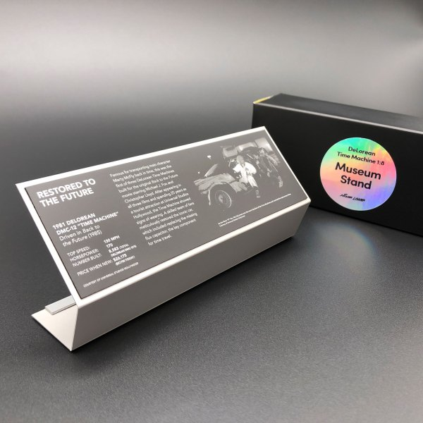 Model museum stand for Eaglemoss DeLorean Time Machine 1:8 re