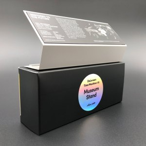 DeLorean 1:8 Museum Stand with packaging box