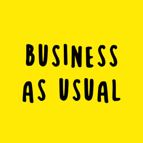 Business as usual notice