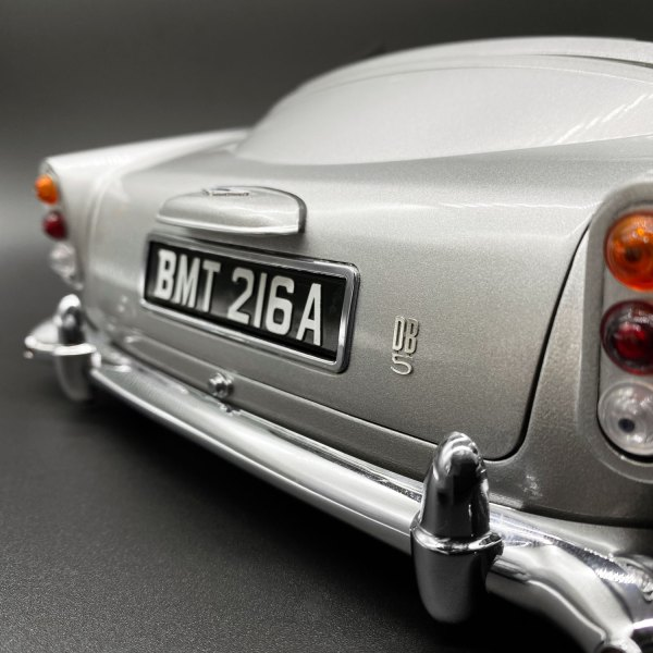 Aston Martin DB5 rear displaying DB5 badge