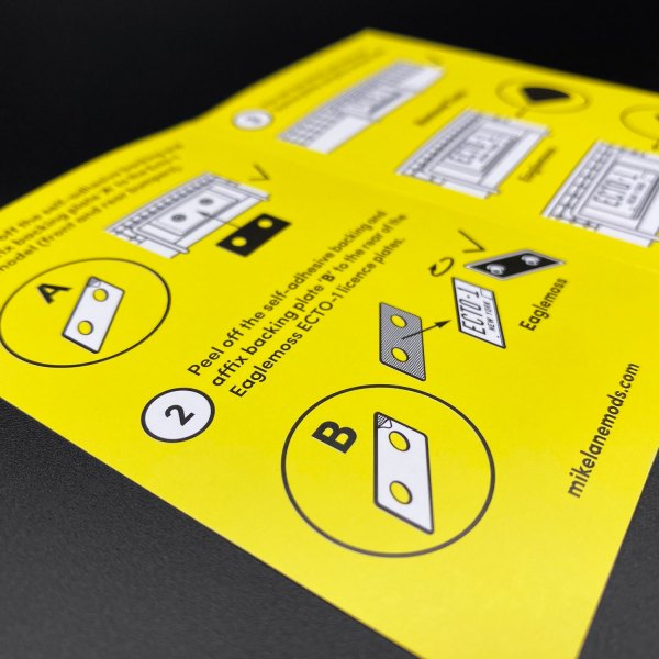 Start of Magnetic Licence Plate Kits instructions booklet